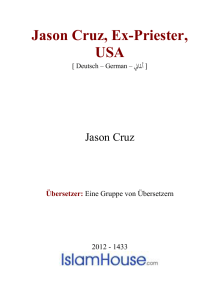 Jason Cruz, Ex-Priester, USA