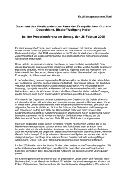 Statement Bischof Huber (DOC 28 kb)