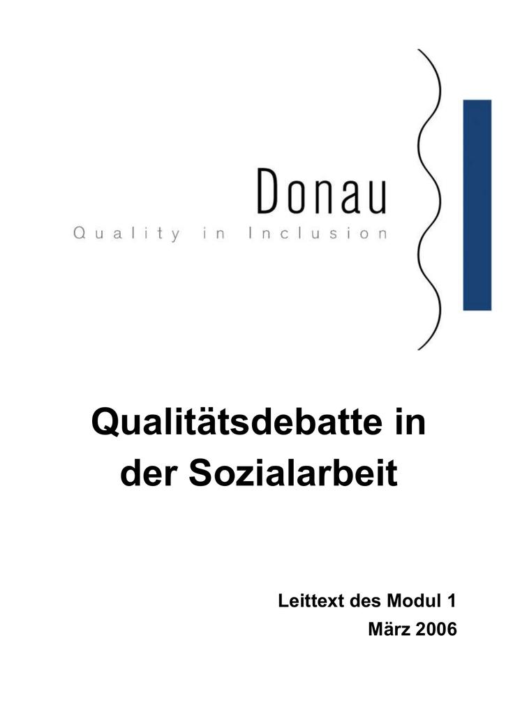 Qualitätsdebatte in der Sozialarbeit