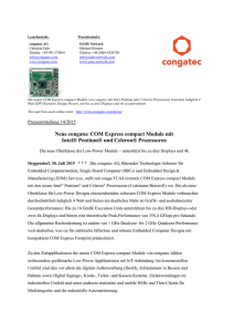 congatec COM Express Basic Module mit 14nm Intel® Core™ und