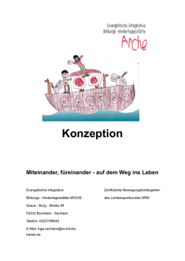 Konzeption der integrativen Kindertagesstätte