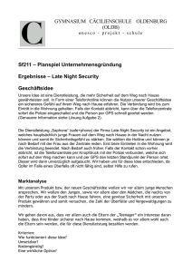 Late night security - Cäcilienschule Oldenburg