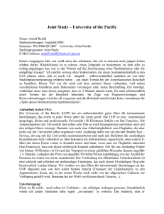 Joint Study – University of the Pacific