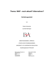 WAP - noch aktuell? Alternativen?