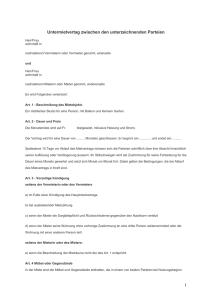 Mietvertrag Für Ein Edv System