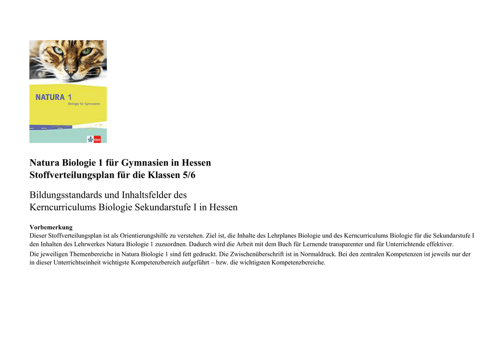 biologie kerncurriculum hessen 2020