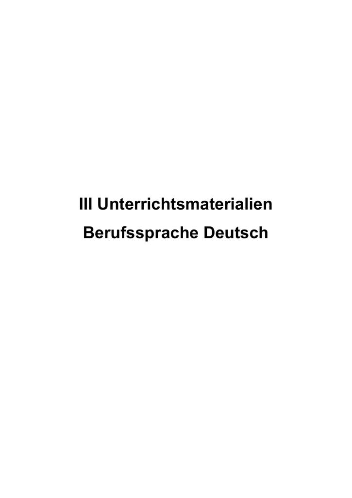 Berufssprache Deutsch für das Berufsfeld Medizinische