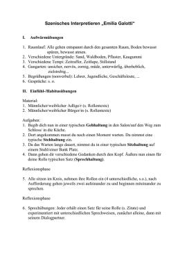 """Arbeitsblatt: Die Figuren in """"Emilia Galotti"""""""