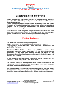 Lasertherapie - biomed