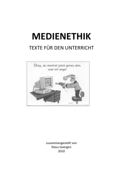 Reader Medienethik - Fachverband Ethik eV