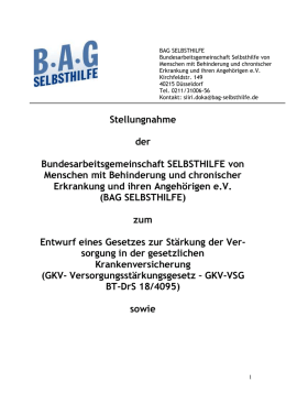Stellungnahme - BAG Selbsthilfe