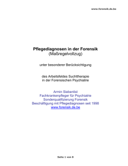 Pflegediagnosen in der Forensik