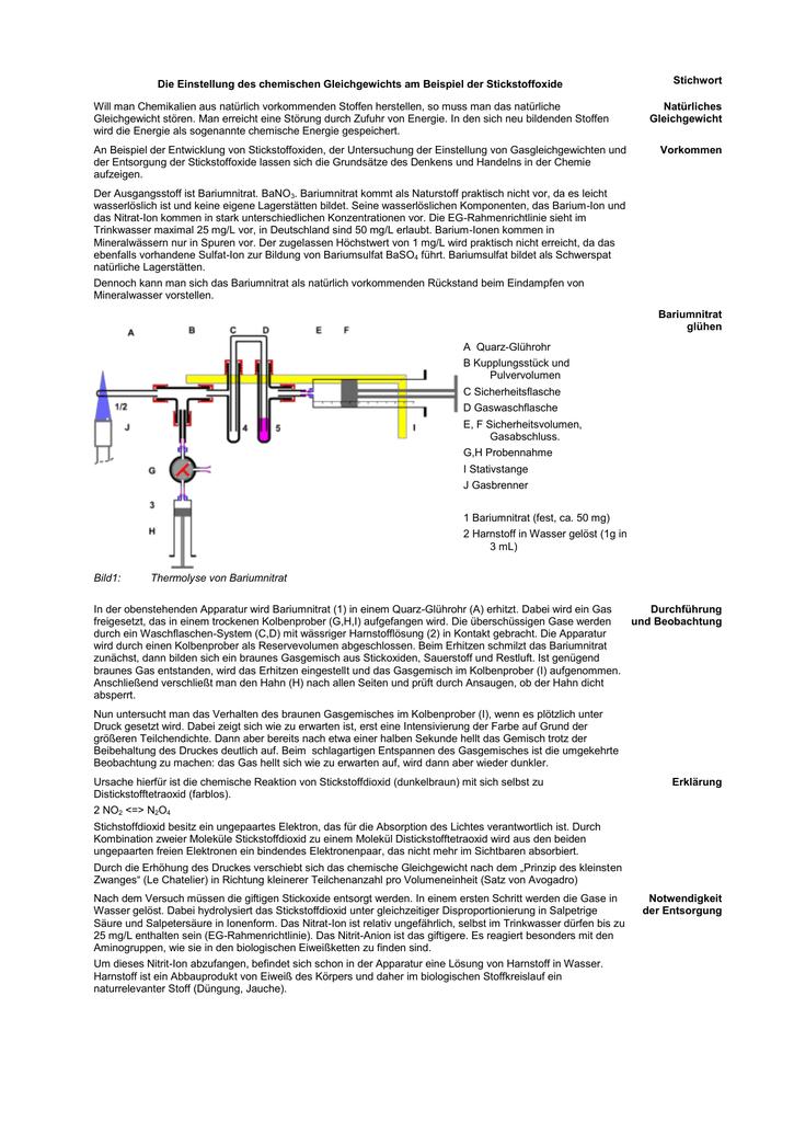 Entwicklung und Untersuchung von Stickstoffdioxid