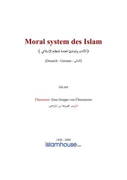 Moral system des Islam