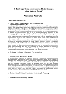 Abstracts der Workshops (60 KB , )