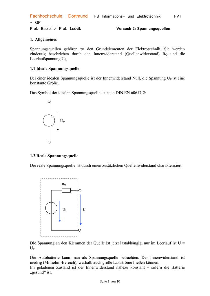 Grundlagen - Praktikum Teil 1