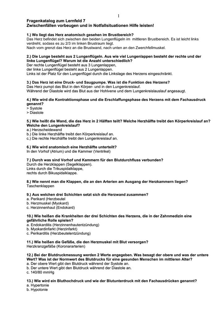 Fragenkatalog zum Lernfeld 7
