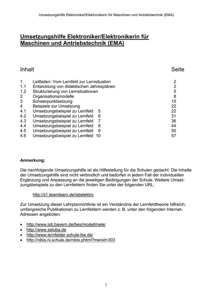 Umsetzungshilfe EMA