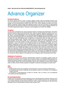 Advance Organizer
