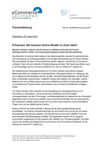Pressemitteilung - E-Commerce