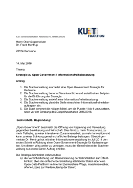 Strategie zu Open Government - KULT