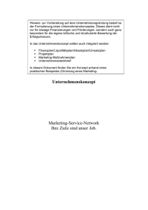 Unternehmenskonzept - LCS - Marketing - Sales