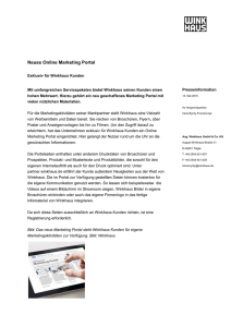 Neues Online Marketing Portal