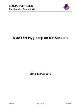 MUSTER-Hygieneplan für Kindereinrichtungen - Ennepe-Ruhr