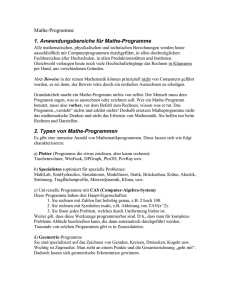 Mathe-Programme - Homepage of Hasso B. Manthey