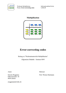 Error Correcting-Codes