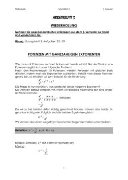 Exponent - Mathebaustelle
