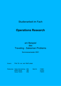 1. Ziel des Operations Research