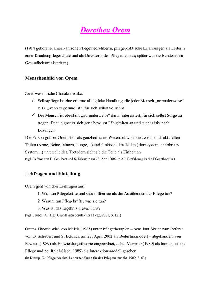 fawcett pflegetheorie 4 ebenen