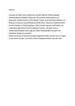 Arbeitsblatt Katalysator Enzyme Katalase Arbeitsblatt