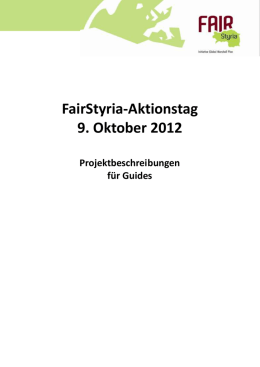 station 1 - FairStyria