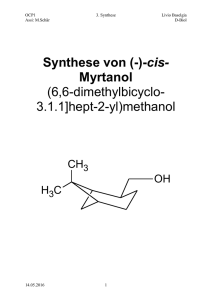3. Synthese von Myrtanol