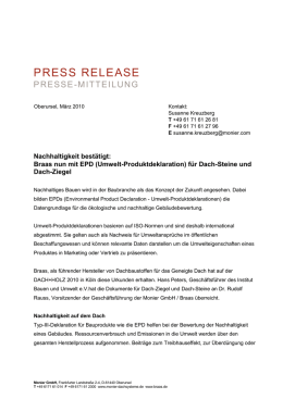 Press Release Monier GmbH