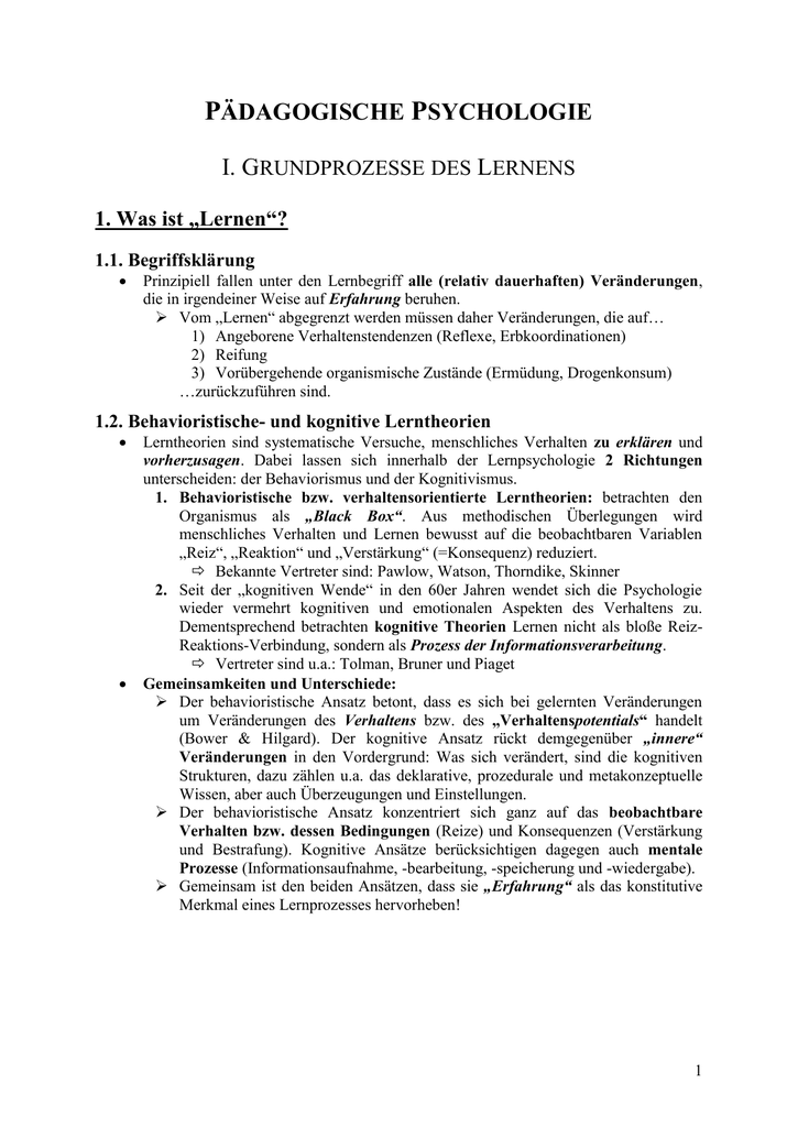 I Lehren und Lernen - EWS