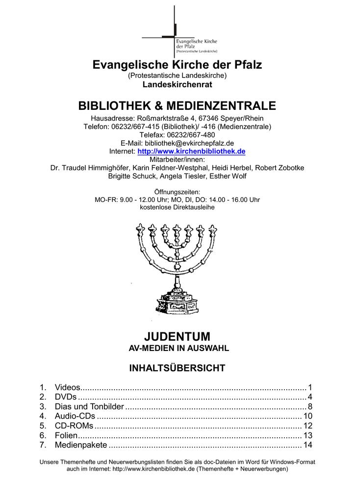 Judentum - Evangelische Kirche der Pfalz