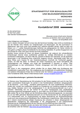 Kontaktbrief Latein 2008 - ISB