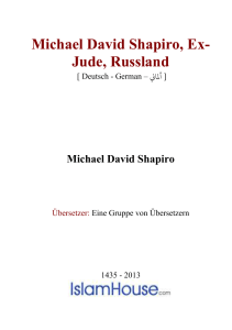 Michael David Shapiro, Ex