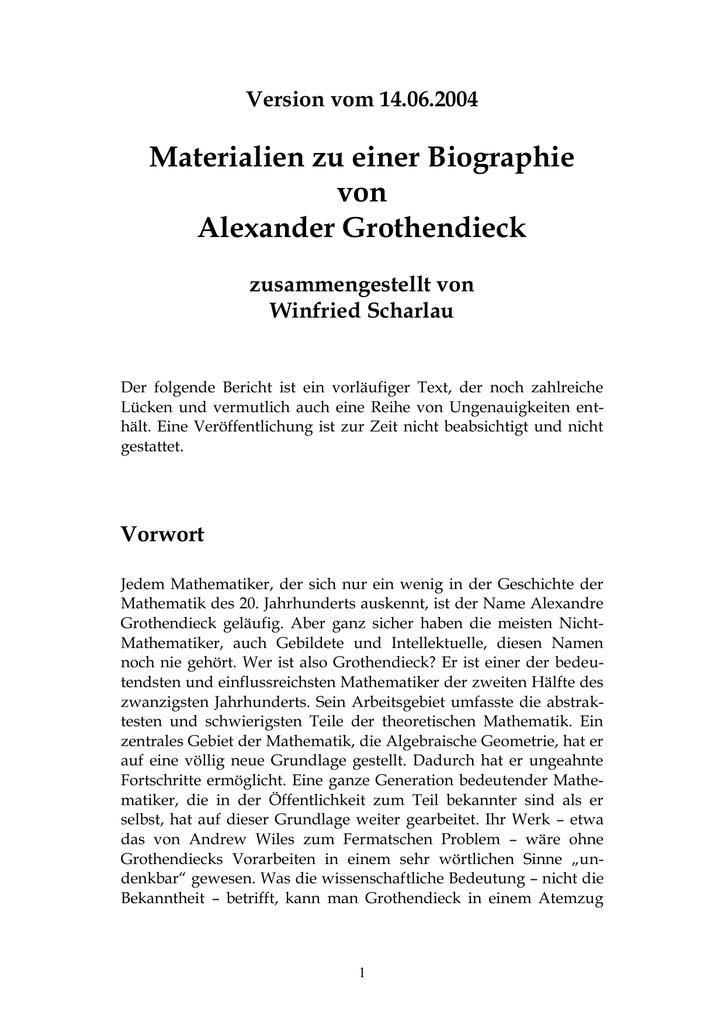 Vorwort - Fachbereich Mathematik und Informatik