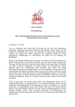 CMC-A Press Release (Deutsch)