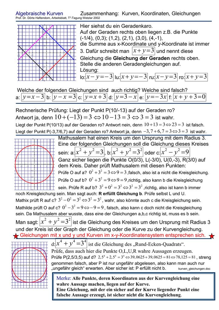 Fein Lösen Von Gleichungssystemen Algebraisch Arbeitsblatt Ideen ...
