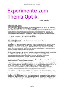 Experiment zum Thema Optik