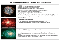Evolution des Kosmos - Manfred Hanglberger