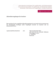 Akkreditierungsformular für Institute