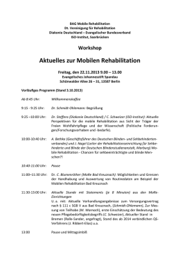 BAG Mobile Rehabilitation Workshop Spandau 2013