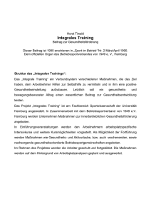 Integralen Trainings