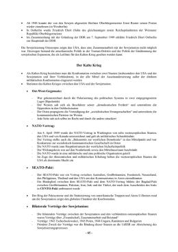 Arbeitsblatt Geschichte - http:/www.histoproblog.org Der Kalte Krieg